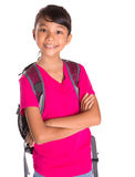 Young Girl With Backpack VI Stock Images