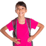 Young Girl With Backpack VII Royalty Free Stock Image