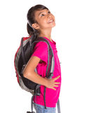 Young Girl With Backpack VIII Royalty Free Stock Image