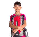 Young Girl With Backpack XII Royalty Free Stock Images