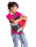 Young Girl With Backpack XIV Stock Image