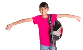 Young Girl With Backpack XVI Stock Photography
