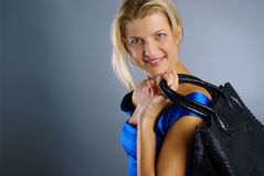 Young girl with bag Royalty Free Stock Image