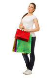 Young girl with bags Stock Photography
