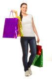 Young girl with bags Stock Image