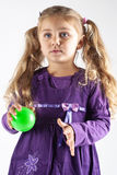 Young girl with ball Royalty Free Stock Image