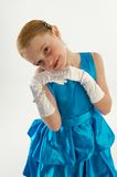 Young Girl in Ball Gown Stock Photo