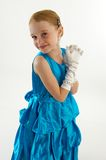 Young Girl in Ball Gown Stock Images