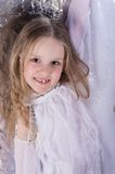 Young girl in ballet long white dress Royalty Free Stock Images