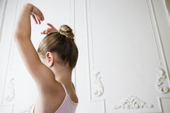 Young girl in a ballet pose Royalty Free Stock Image