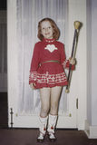 Young girl with baton Royalty Free Stock Photo