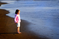 Young Girl on Beach Stock Photography
