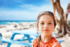 Young girl at the beach Royalty Free Stock Photo
