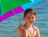 Young girl at the beach Royalty Free Stock Image