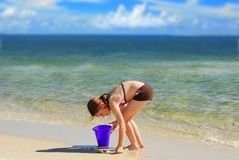 Young girl at beach Stock Photo