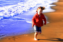 Young Girl on Beach Stock Photo
