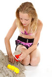 Young girl in beach wear Royalty Free Stock Image