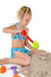 Young girl in beach wear Stock Photography