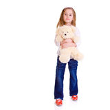 Young girl with bear Stock Photos