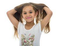 Young Girl With Beautiful Hair Stock Photos