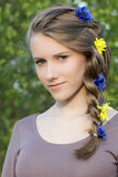 Young girl with beautiful hairstyle Royalty Free Stock Images