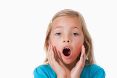 Young girl being scared Stock Photography