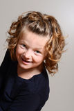 Young girl being silly Royalty Free Stock Photos