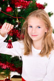 Young girl with bell. Stock Photo