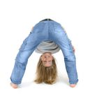 Young Girl - Bending Royalty Free Stock Photography