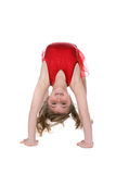 Young girl bent over backwards Royalty Free Stock Photos