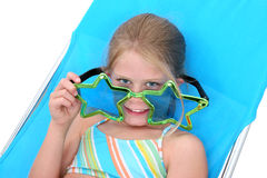 Young Girl With Big Funny Sunglasses Stock Photography