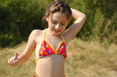 Young girl in bikini Royalty Free Stock Images