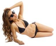 Young girl in bikini isolated Royalty Free Stock Photo