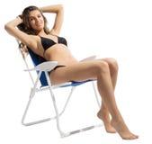 Young girl in bikini Stock Images