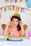 Young girl birthday party Stock Photo
