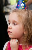Young girl at birthday party Royalty Free Stock Image