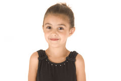 Young girl in black leotard Stock Images