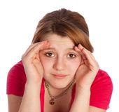 Young girl with blinders Royalty Free Stock Photography