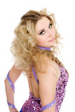 Young girl with blond curly hair Stock Images