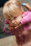Young girl with blond hair stock photo