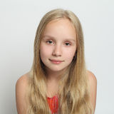 Young girl with blond hair. Young girl with long blond hair Royalty Free Stock Photography