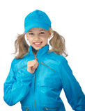 Young girl in the blue cap Stock Images
