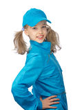 Young girl in the blue cap Royalty Free Stock Image