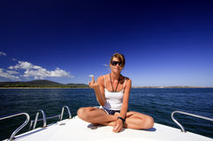 Young girl of the boat Royalty Free Stock Photos