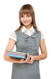 Young girl with book Royalty Free Stock Images