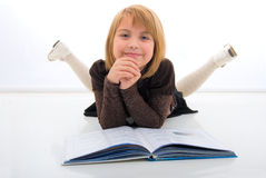 Young Girl And The Book. Royalty Free Stock Photography