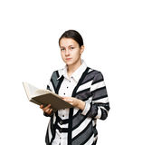Young girl with a book Royalty Free Stock Photo
