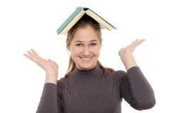 Young girl with  book Stock Photography