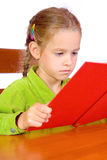 Young girl with book. Sitting young girl with book Stock Photos