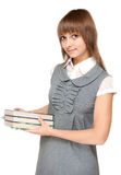 Young girl with book in hand Stock Image